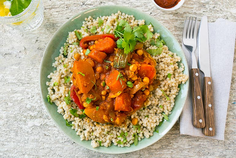 Bosto - recept 7 groenten parelcouscous