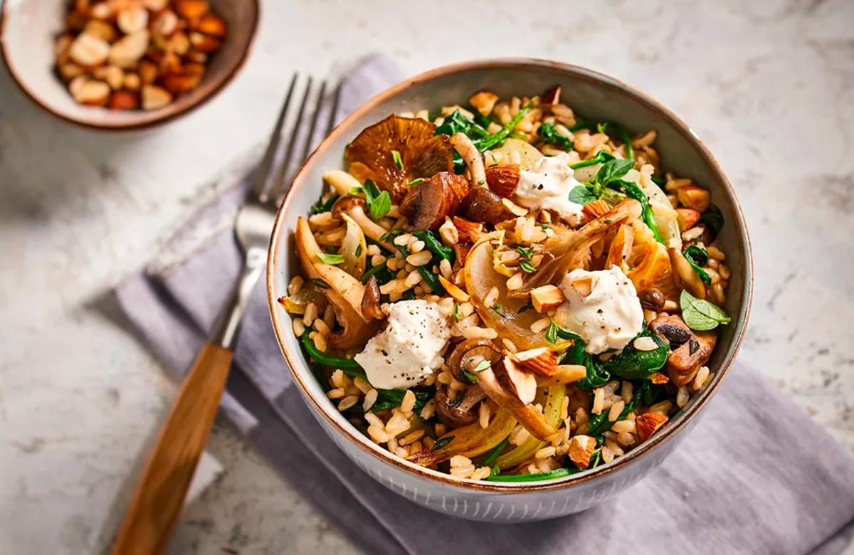 Bosto, Bosto Brown Rice, micro-ondes, champignons, épinards