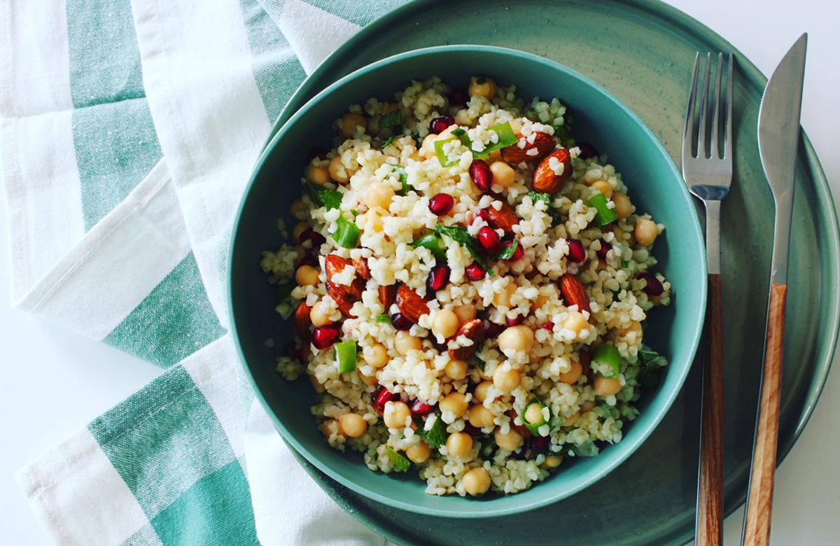 Bosto, salade boulgour, petits poix, recettes bosto